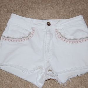 White Shorts from PacSun
